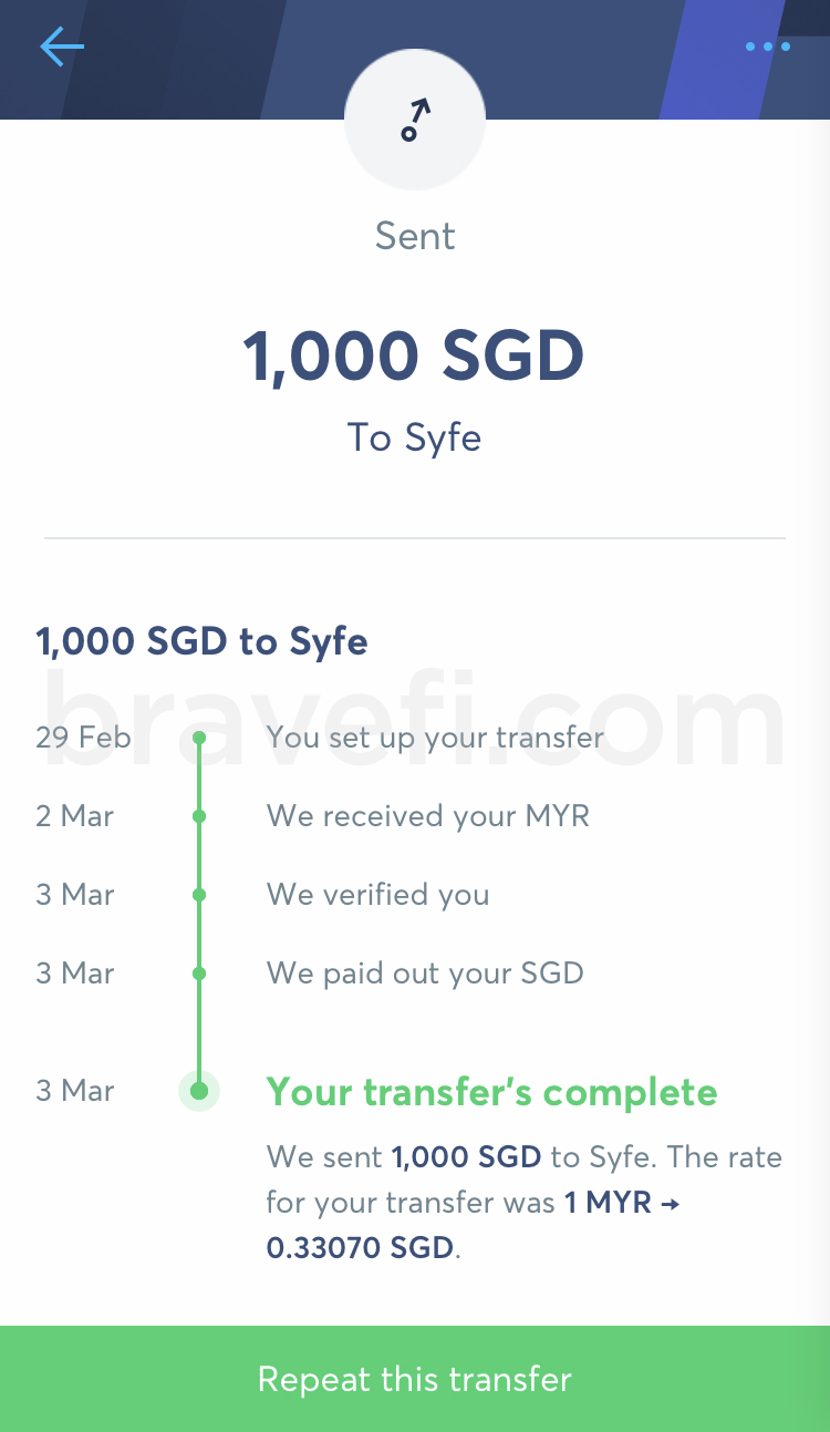 You can set up your transfer and pay later. As you can refer, the verification completed in same day for my transfer on 3 Mar 2020.